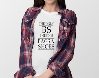 Bag And Shoes Typography T-Shirt