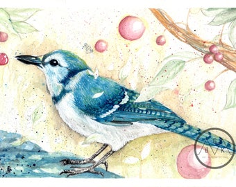 little blue bird
