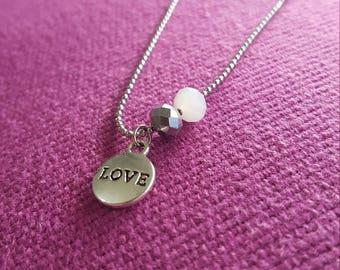 Love cute necklace