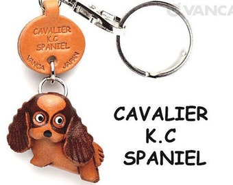 Cavalier K.C.Spaniel 3D Leather Dog Keychain