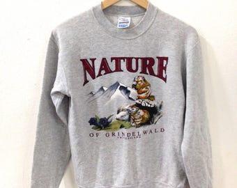 Vintage Sweatshirt Nature Switzerland