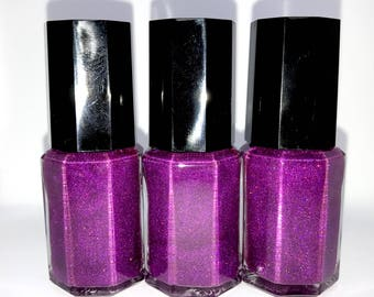 Plum Holo- Homemade Indie Nail Polish