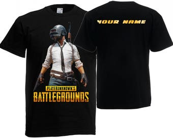 Playerunknown's Battlegrounds PUBG personalised T-shirt Xbox One PC Gift Adult Kids