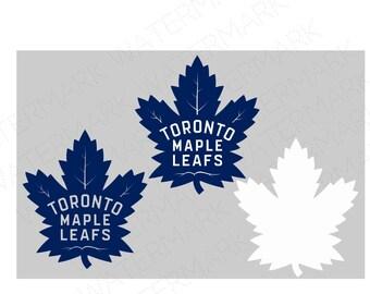 Toronto Maple Leafs  SVG & Studio 3 Cut File Stencil Decal Files Logo for Silhouette Cricut SVGS Cutouts Hockey Decals
