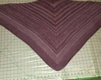 Plum rose triangle shawl