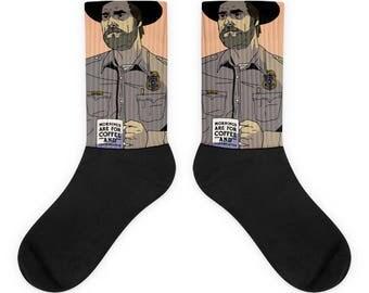 Hopper Socks | Stranger Things Store | Stranger Things Shirts, Mugs, Leggings & More