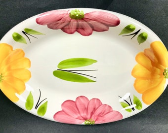 Made in Italy for ROMA Inc NY Floral Pasta / Serving Bowl- 12.75""