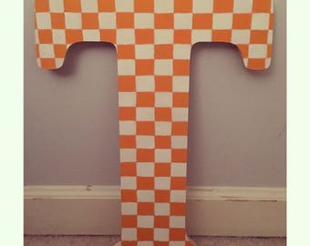 Tennessee Vols Checkerboard T sign