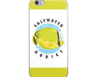 Saltwater Marine Aquarium iPhone Case - Latticed Butterfly Fish - Saltwater Addict
