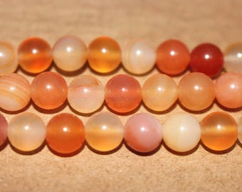 15 Inches Full strand,Natural Orange Agate,candy agate ,Primary color Agateround beads,loose beads,semi-precious stone,8mm