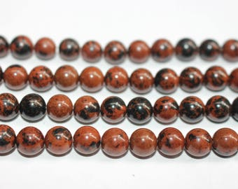 15 Inches Full strand,Mahogany Obsidian Smooth round beads 6mm 8mm 10mm 12mm ,loose beads,semi-precious stone