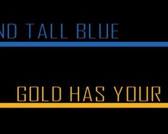 Stand Tall Blue