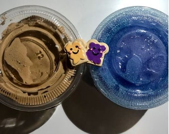PB and J-Peanut Butter & Jelly Duo-Scented Slimes!