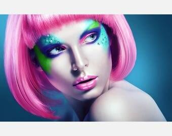 Beauty hair Salon Eyes Makeup Poster or Canvas