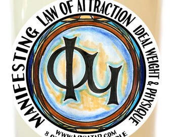Law of Attraction Manifesting Ideal Weight and Physique Scented Soy 8 oz Glass Candle