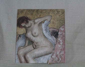 "Degas, ""After the Bath"" signed, stamped Chromograuve"