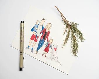 Family Portrait Watercolor