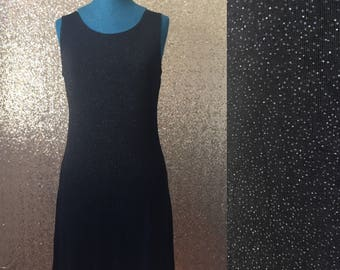 vintage black sparkly mini dress