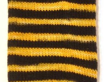 "Duchess of Dyepots Rani Stripe Sock ""Bzzzzz"""