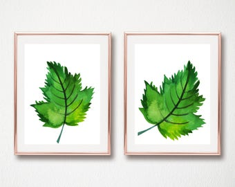 set of 2 leaves