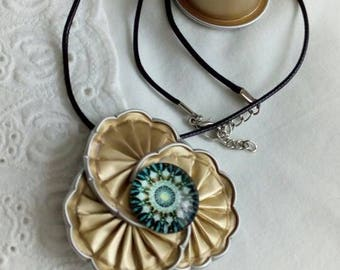 Pendant necklace triple gold nespresso