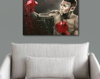 Original Anthony Joshua Painting.