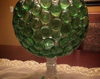 Green spring vase