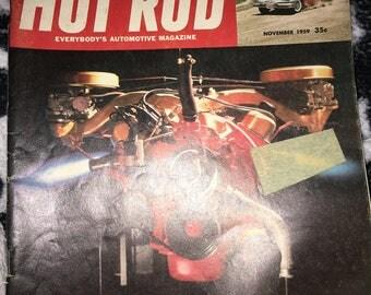 Hot Rod Automative vintage magazine