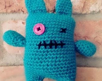 Naughty ugly monster to love-Little lucky charm soul comforter-with or without rattle-baby gift