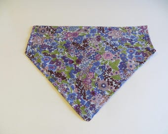 Purple and Green Floral Vibrant Dog Bandana