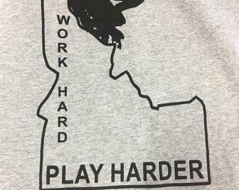 Idaho Snowmobile Work Hard Play Harder