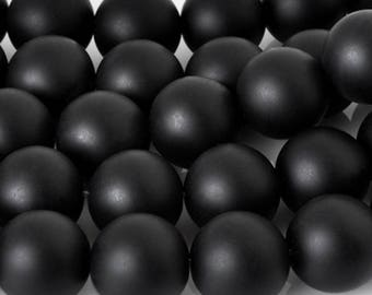 10 mm Black Matte Onyx Round Beads • Stone Beads• Gemstone Beads • Black Matte Beads • Nature Stone Beads For DIY Bracelet Necklace Jewelry