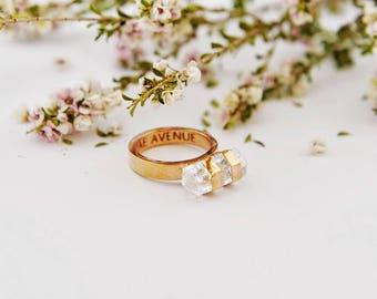Clear Quartz Ring | Compass Ring