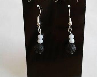 Essential Oil Lava Bead Earrings