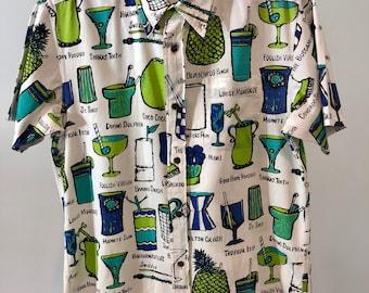 Vintage 90's Sun Surf hawaii aloha hawaiian colorful beach shirt size M