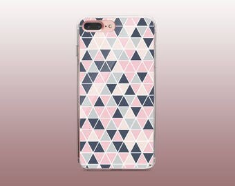 Geometric Triangle TPU Phone Case for iPhone 8- iPhone 8 Plus - iPhone X - iPhone 7 Plus-iPhone 7-iPhone 6-iPhone 6S-Samsung S8