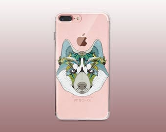 Wolf Clear TPU Phone Case for iPhone 8- iPhone 8 Plus - iPhone X - iPhone 7 Plus-iPhone 7-iPhone 6-iPhone 6S-Samsung S