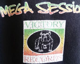 Bad Brains - Omega Sessions Original shirt Victory Records (Afro Punk, Hard Core, Black Flag,SST, Cro Mags, Agnostic Front, Rock Fusion )