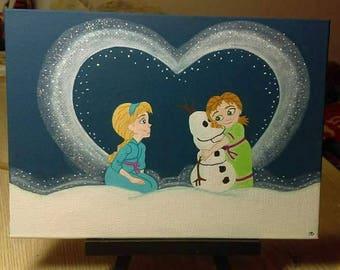 Custom Acrylic Painting 5 inch x 7 inch