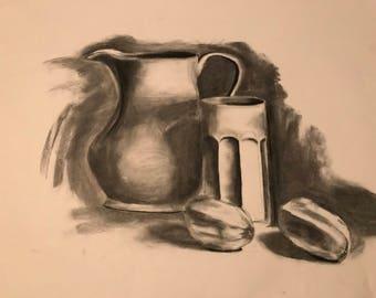 Still Life Charcoal Sketch