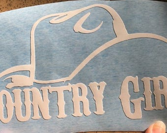 Country girl decal car
