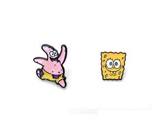 Sponge Bob Badges, Sponge Bob Pins, Spongebob and Patrick Pin, Cute Icon Badges for Backpack, Badges,
