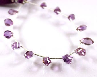"""VG-210 Natural African Amethyst, Purple Amethyst Gemstone, Faceted Amethyst, Amethyst Beads, 6x11-8x11mm 8"""" Long Strand For Making Jewelry"""