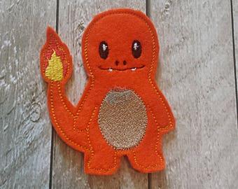 Pocket Monster Finger Puppets - Fire, Lizard, Char, Poke, Adorable, Puppet