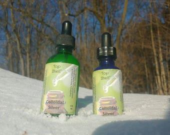Top Shelf Colloidal silver 2 and 4 ounce sizes