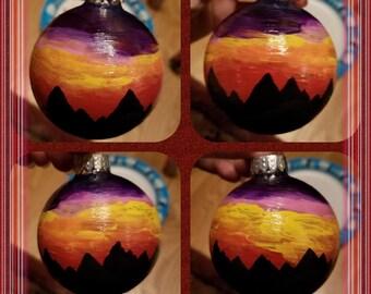 Mountain Sunset Ornament