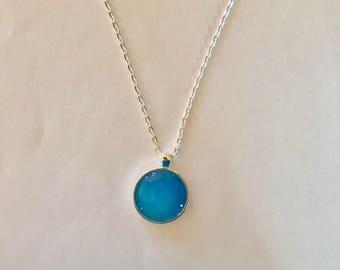 Blue Orb Necklace