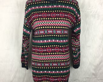 Vintage Lands' End Abstract Sweater