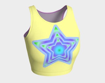 Seriously Cute Star Athletic Crop Top