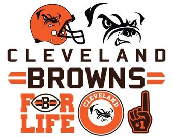 Cleveland Browns Nfl  SVG PNG DXF File football svg files, cricut, silhouette cut file  Vector Cut File